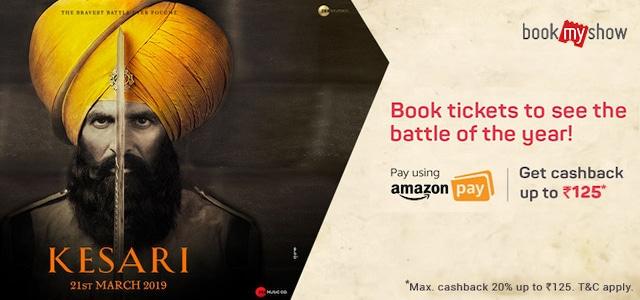 Kesari Movie Ticket Booking Offer Amazon Pay