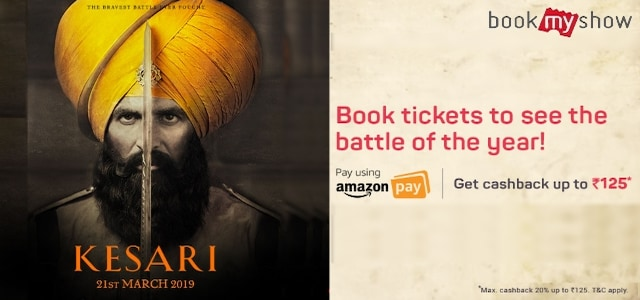 Kesari Movie Ticket Booking Offer Amazon Pay
