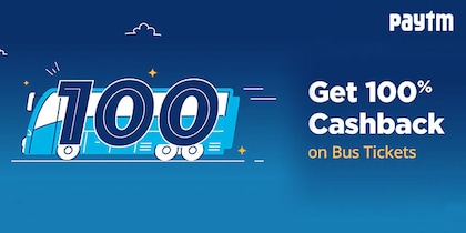 Paytm Cashback Offer on Bus Tickets