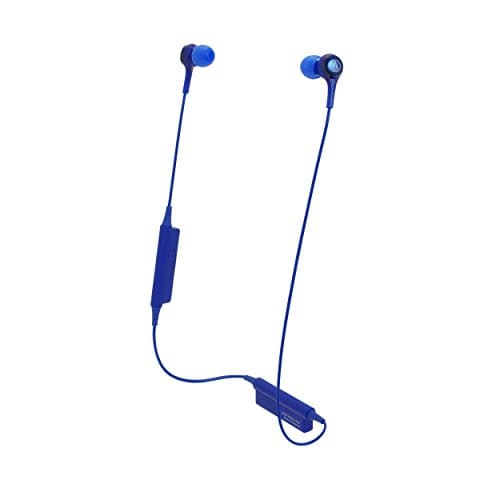 Audio-Technica ATH-CK200BT Wireless Bluetooth Earphones (Blue)