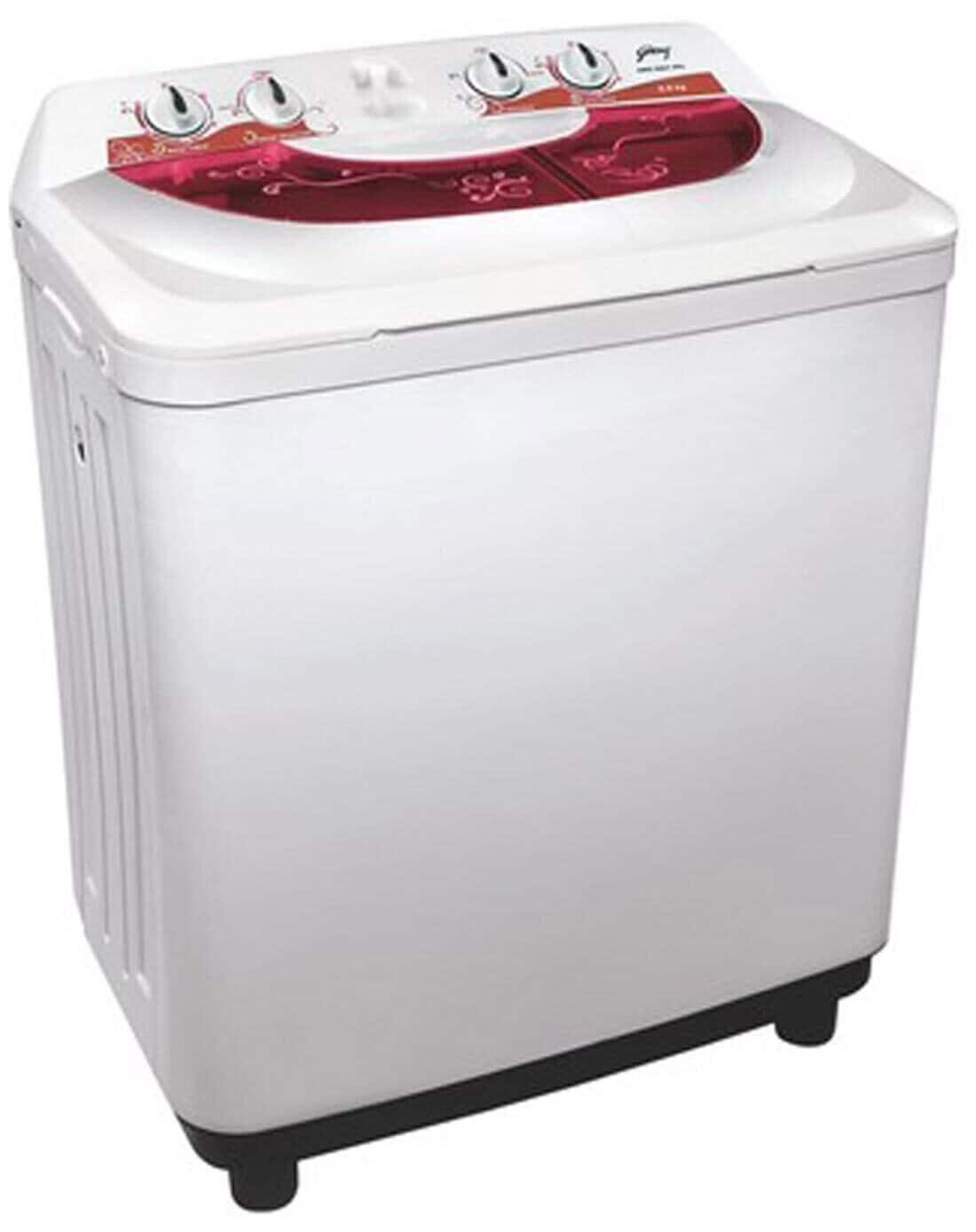 Godrej 6.8 kg Semi Automatic Top Load Washing Machine (GWS 6801 PPL, White & Red)