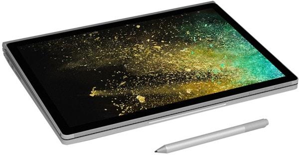 Microsoft Surface Book 2 Laptop (Windows 10 Pro, 8GB RAM, 256GB HDD, Intel Core i7, Silver, 13.5 inch)
