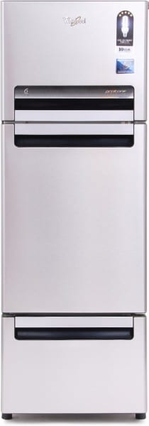Whirlpool 240 L Frost Free Triple Door 5 Star Refrigerator (FP 263D PROTTON ROY, Alpha Steel)