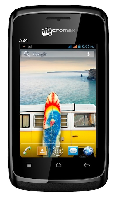 Micromax A24 (Black, 256MB RAM, 512MB) Price in India