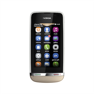 Nokia Asha 311 (Sand White, 128MB RAM, 140MB) Price in India