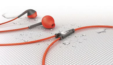 Philips SHQ1200 Action fit Sport in Ear Headphone Orange and Grey Price in India