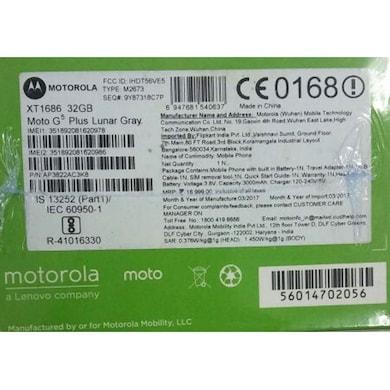Moto G5 Plus (Lunar Grey, 2GB RAM, 16GB) Price in India