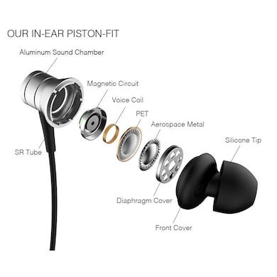 1MORE Piston Fit In-Ear Headphones with Microphone Silver Price in India