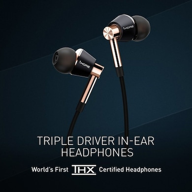 1More Triple Driver Premium In-Ear Headphones With iOS, Android Compatible Microphone And Remote Gold Price in India