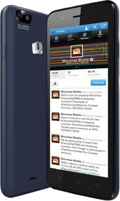 Micromax Bolt D321 (Blue, 512MB RAM, 4GB) Price in India