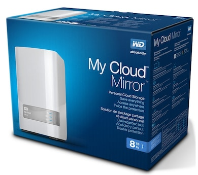 WD My Cloud Mirror Personal Cloud Storage 8 TB White Price in India