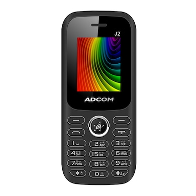 Adcom J2 1.8 Inch Display,Torchlight,Camera, Bluetooth (Black and Red) Price in India