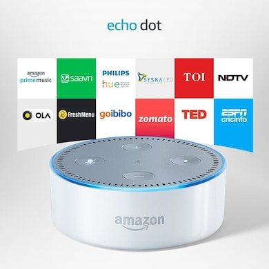 Amazon Echo Dot - Voice control your music, Make calls, Get news, weather & more White Price in India