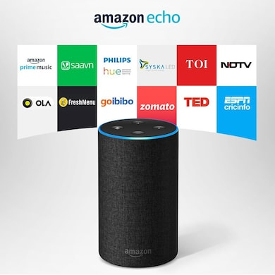 Amazon Echo - Voice control your music, Make calls, Get news, weather & more, Powered by Dolby Black Price in India