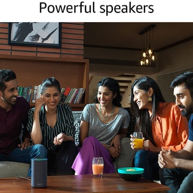 Amazon Echo - Voice control your music, Make calls, Get news, weather & more, Powered by Dolby Black images, Buy Amazon Echo - Voice control your music, Make calls, Get news, weather & more, Powered by Dolby Black online at price Rs. 8,899