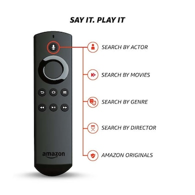 Amazon Fire TV Stick with Voice Remote Streaming Media Player Black Price in India