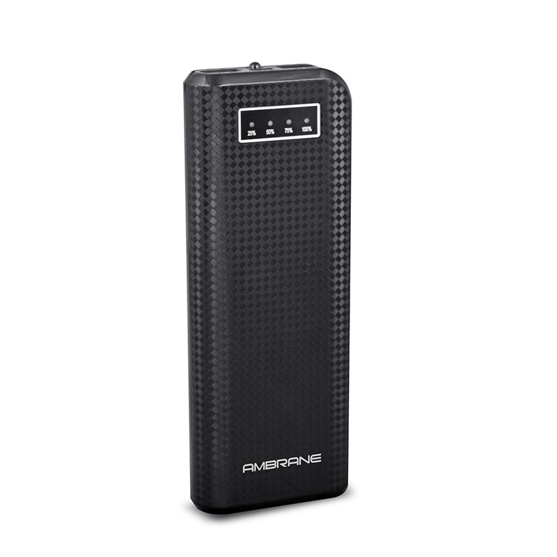 Ambrane P-1200 Power Bank 12000 mAh Black images, Buy Ambrane P-1200 Power Bank 12000 mAh Black online at price Rs. 1,099