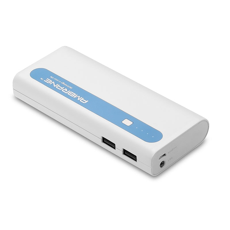 Buy Ambrane P-1310 Power Bank 13000 mAh White and Blue online