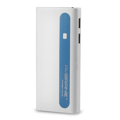 Ambrane P-1310 Power Bank 13000 mAh White and Blue Price in India