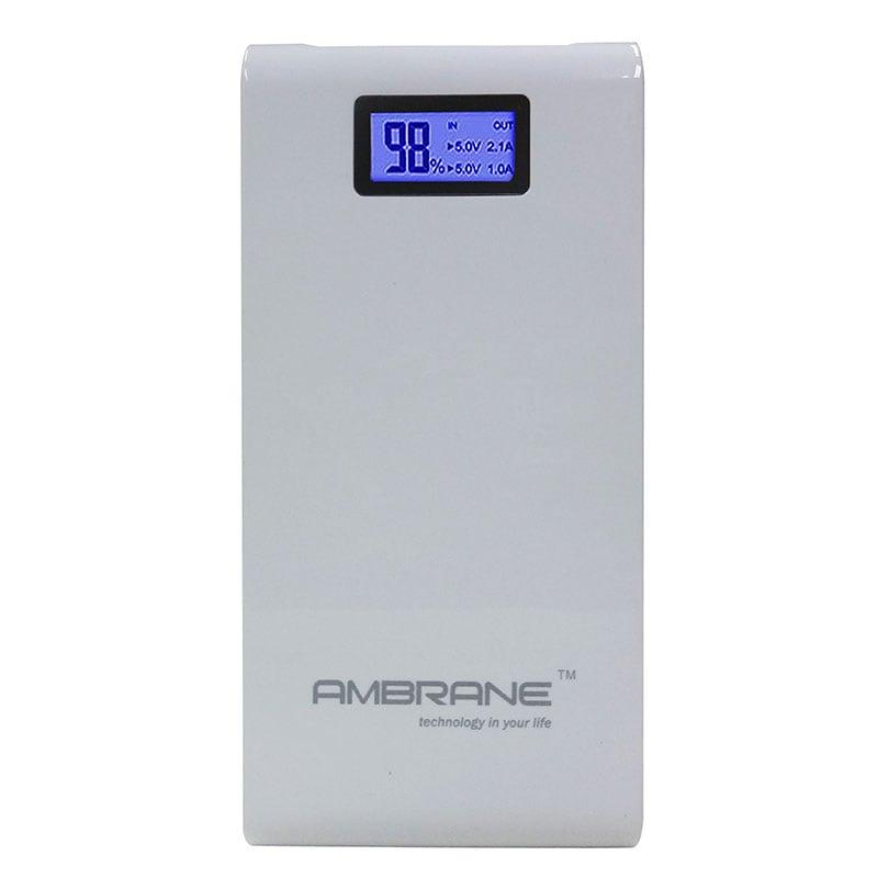 Ambrane P-1500 Power Bank 15600 mAh White images, Buy Ambrane P-1500 Power Bank 15600 mAh White online at price Rs. 1,499