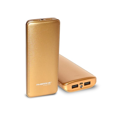 Ambrane P-1511 Power Bank 15600 mAh Gold Price in India
