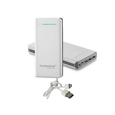 Ambrane P-2000 Power Bank 20800 mAh White images, Buy Ambrane P-2000 Power Bank 20800 mAh White online at price Rs. 1,899
