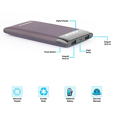 Ambrane PLUSH PP-15 15000 mAh Power Bank Brown Price in India