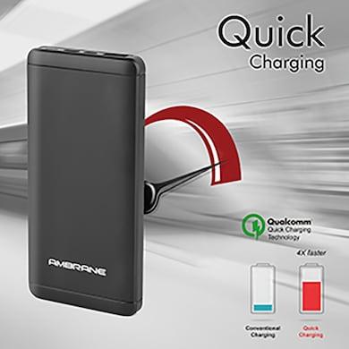 Ambrane Plush PQ-800 Quick Charge 8000 mAh Power Bank Black Price in India