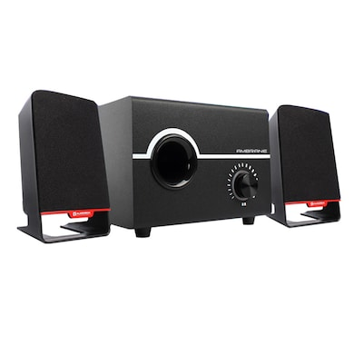 Ambrane SP-200 Laptop/Desktop Speaker 2.1 Channel Black Price in India