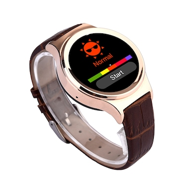Ambrane W-2000 Smart Watch With Bluetooth Call Gold Price in India