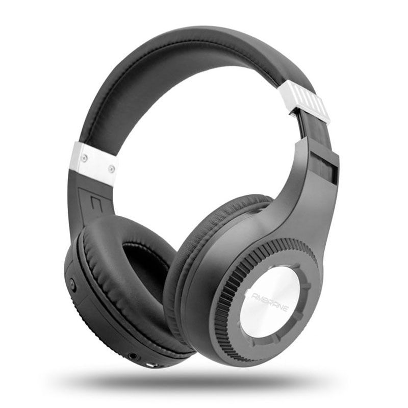 Buy Ambrane WH-2100 Wireless Bluetooth Headphones with Mic Black online