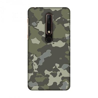 new styles 8e74f de914 Amzer Designer Case Camou-Black Olive For Nokia 6.1