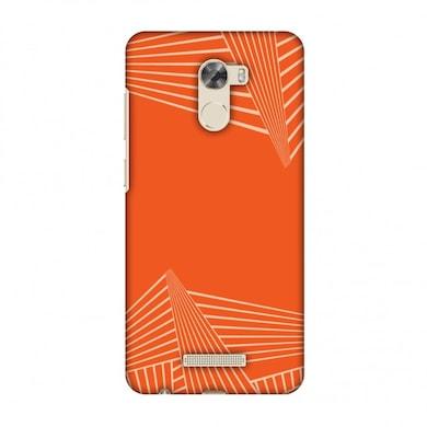 free shipping c958e 5ffaa Amzer Designer Case Carbon Fibre Redux Tangy Orange 3 For Gionee A1 Lite