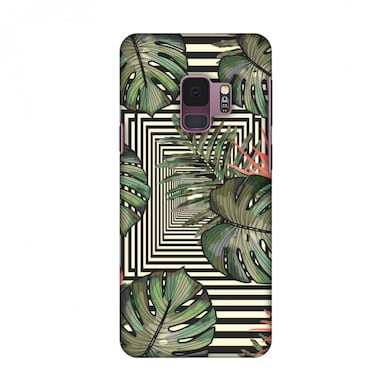 best website d9865 fb650 Amzer Designer Case Leaves Over Stripes-Plum For Samsung Galaxy S9