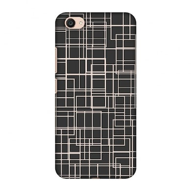new arrival 59c30 dd3a9 Amzer Designer Case-Puzzled lines-Soot grey For Vivo V5 Plus