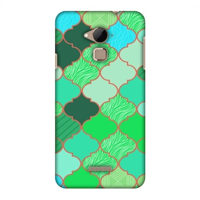 Amzer Designer Case Stained Glass- American Green For Coolpad Note 3 Multicolor Price in India