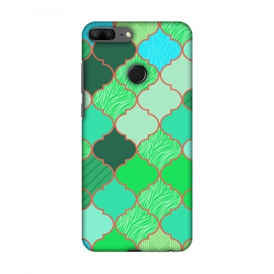 Amzer Designer Case Stained Glass- American Green For Huawei Honor 9 Lite Multicolor Price in India