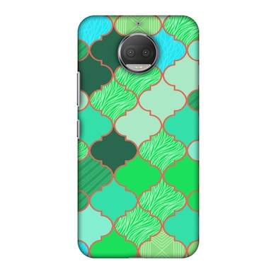 Amzer Designer Case Stained Glass- American Green For Moto G5S Plus Xt1803 Multicolor Price in India