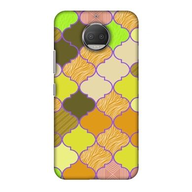 info for a194f bc11e Amzer Designer Case Stained Glass- Chocolate Orange For Moto G5S Plus Xt1803