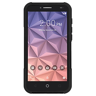 Amzer Double Layer Hybrid Case with Kickstand For Alcatel Onetouch Fierce XL Black Price in India