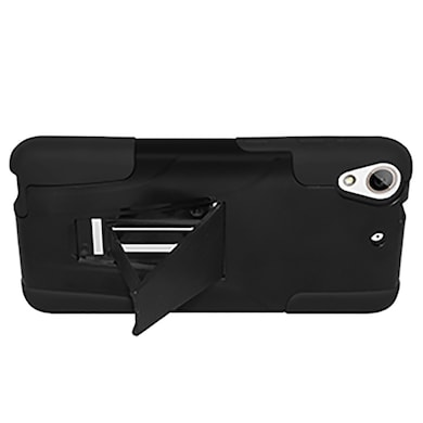 Amzer Double Layer Hybrid Case with Kickstand For HTC Desire 626 Black Price in India