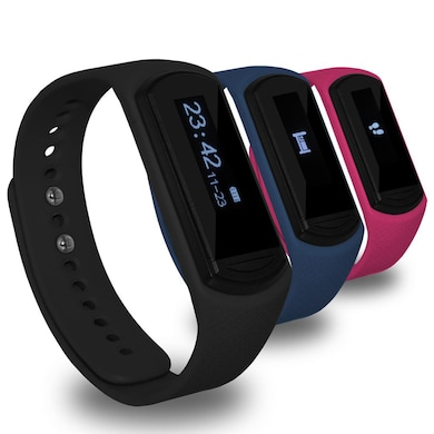 Amzer Fitzer KA Wireless Health & Fitness Activity Tracker with 2 Free Bands Black Price in India