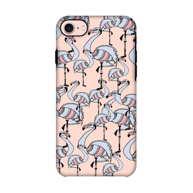 Amzer Hybrid Dual Layer Designer Case-Flamingos-Baby Pink For iPhone 7 Multicolor Price in India
