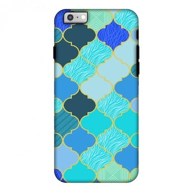 Amzer Hybrid Dual Layer Designer Case-Stained Glass-Carribean Blue For iPhone 6S Plus, iPhone 6 Plus Multicolor Price in India