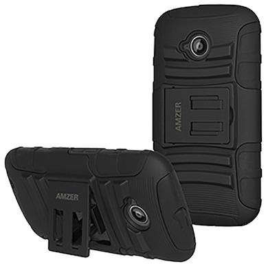 official photos 3790a 124ed Amzer Hybrid Kickstand Case for Motorola Moto E 2nd Gen 4G XT1521
