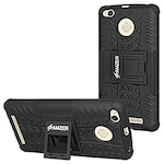 Buy Amzer Hybrid Warrior Case for Xiaomi Redmi 3S Prime Black Online