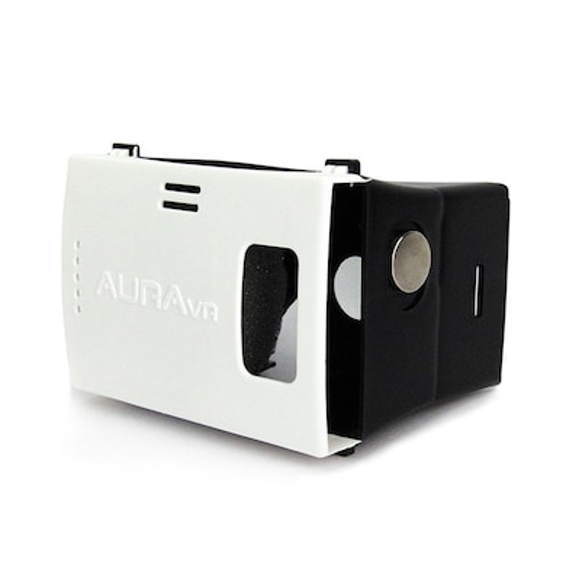 AuraVR AV-V2-001 Virtual Reality Plastic VR Headset Supports Upto 6 Inches  Phones