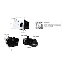 AuraVR AV-V2-001 Virtual Reality Plastic VR Headset Supports Upto 6 Inches Phones White and Black images, Buy AuraVR AV-V2-001 Virtual Reality Plastic VR Headset Supports Upto 6 Inches Phones White and Black online at price Rs. 330