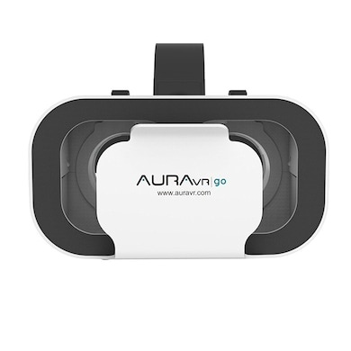 AuraVR Go Virtual Reality Headset With Inbuilt Clicker & Adjustable Lenses for Smartphones White images, Buy AuraVR Go Virtual Reality Headset With Inbuilt Clicker & Adjustable Lenses for Smartphones White online at price Rs. 699