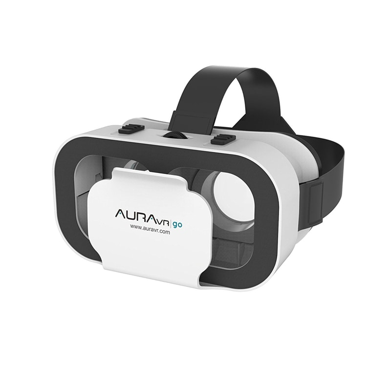 Buy AuraVR Go Virtual Reality Headset With Inbuilt Clicker & Adjustable Lenses for Smartphones White online